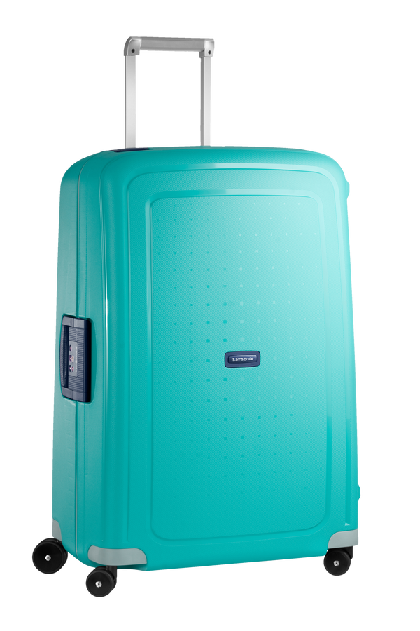 Samsonite S'Cure Spinner 75cm Aqua Blue/Dark Blue