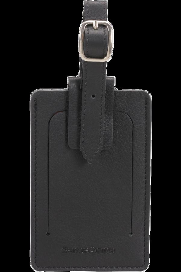 Samsonite Global Ta ID Leather Luggage Tag Noir