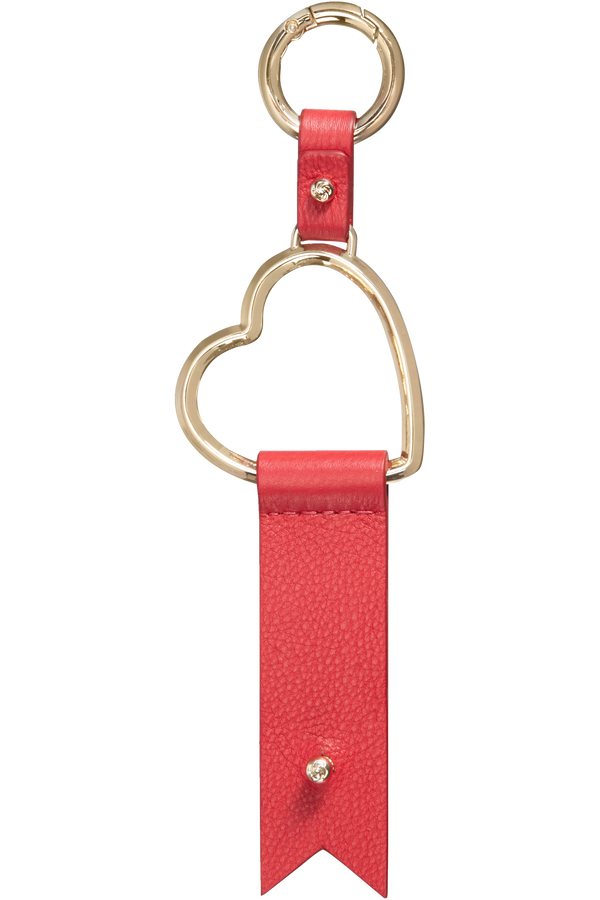 Samsonite Lady Charmy Heart Key Ring  Rouge