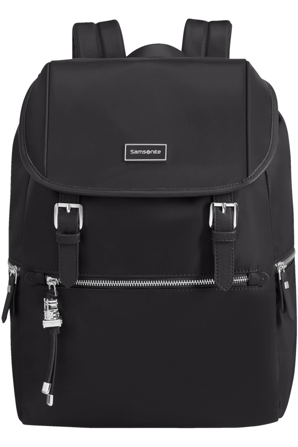 Samsonite Karissa Biz Backpack +Flap  14.1inch Noir