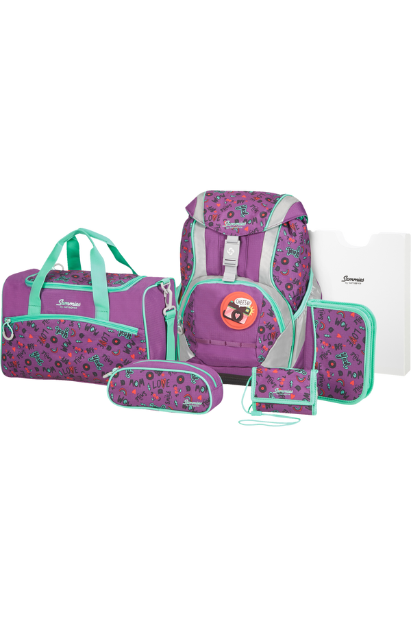 Samsonite Sammies Ergofit Set 2.0  Doodle Purple
