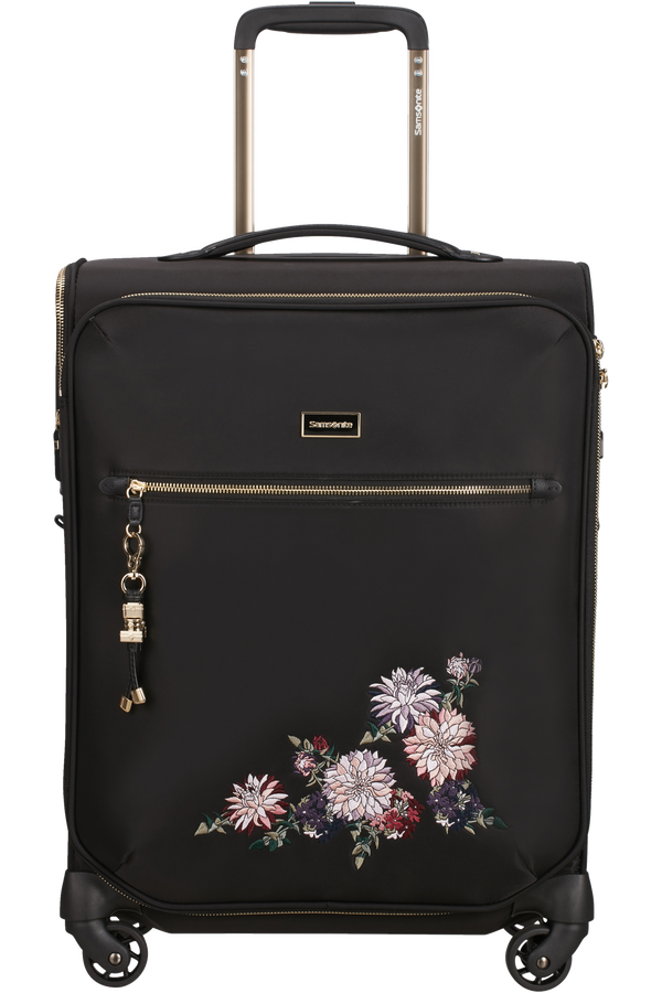 Samsonite Karissa Biz Spinner 55cm  Black/Flower Embroidery