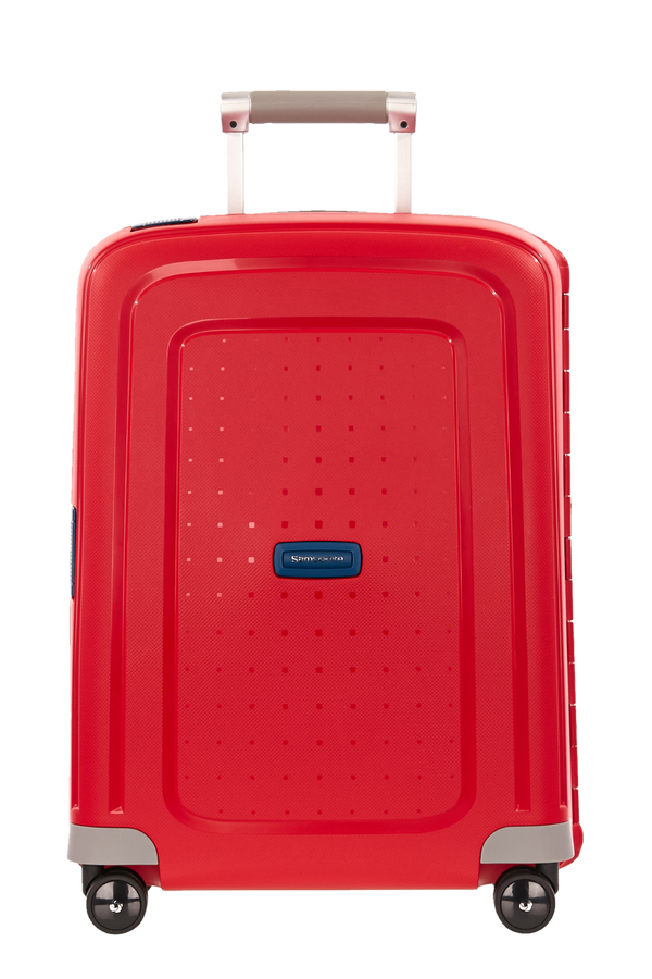 Samsonite S'Cure Spinner 55cm Crimson Red/Dark Blue