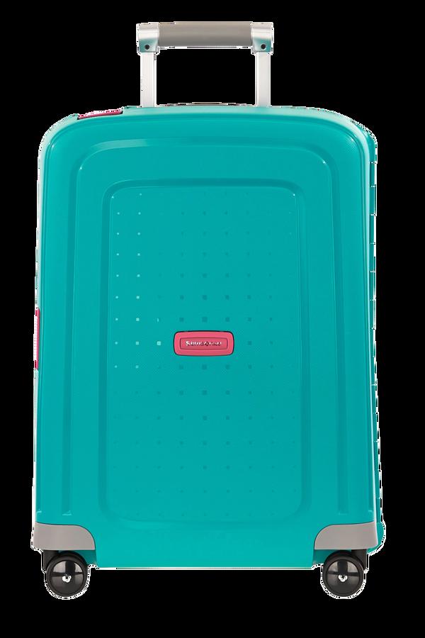 Samsonite S'Cure Spinner 55cm  Aqua Blue/Bright Pink