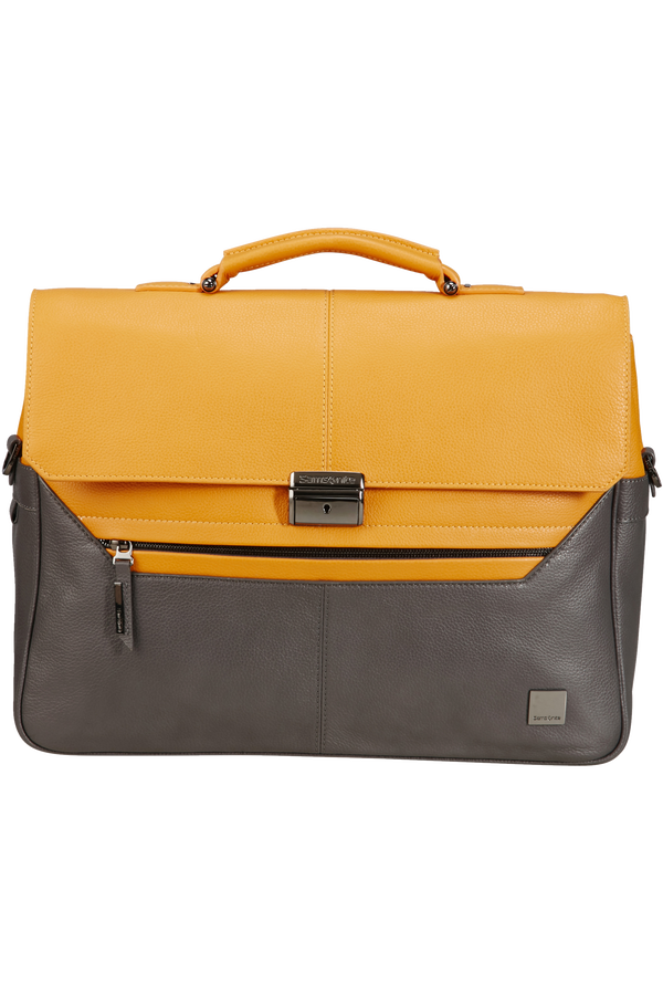 Samsonite Senzil Briefcase 2 Gus 15.6'  Grey/Yellow