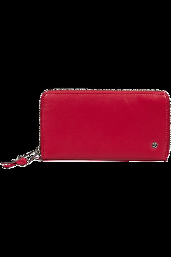 Samsonite Dame Jolie Slg 319 - L Zip Around L  Rouge cerise