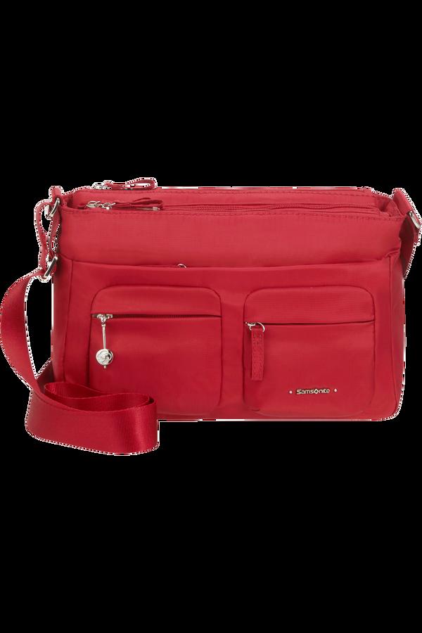 Samsonite Move 3.0 Horiz Shoulder Bag + Flap  Rouge foncé