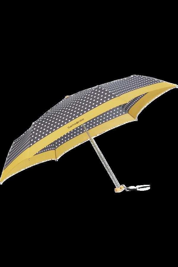 Samsonite R-Pattern 3 Sect. Manual Flat  Black/White Dots/Old Yellow