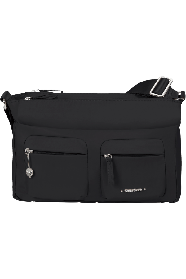 Samsonite Move 3.0 Horiz Shoulder Bag + Flap  Noir