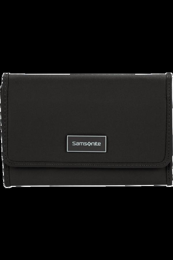 Samsonite Karissa Slg Wallet 12CC+ZIP EXT M  Noir