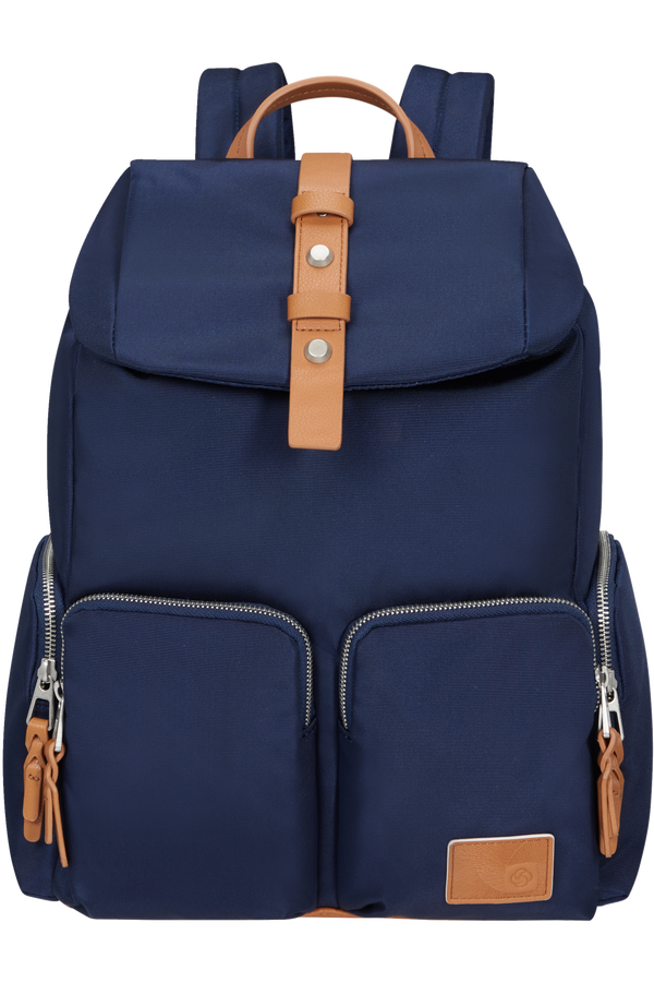 Samsonite Yourban Backpack 4pkt + Flap  14.1inch Bleu nuit