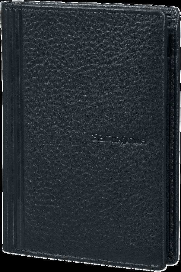 Samsonite Double Leather Slg 137 - W 6CC+HFL+2W+2C  Noir