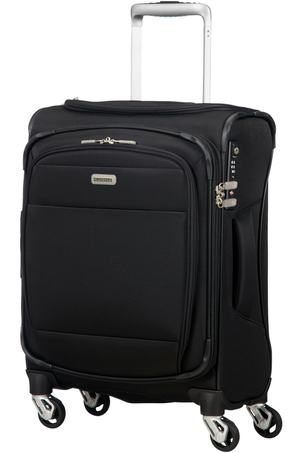 Samsonite Eco-Rev Spinner Expandable Toppocket 55/20 55cm  Noir