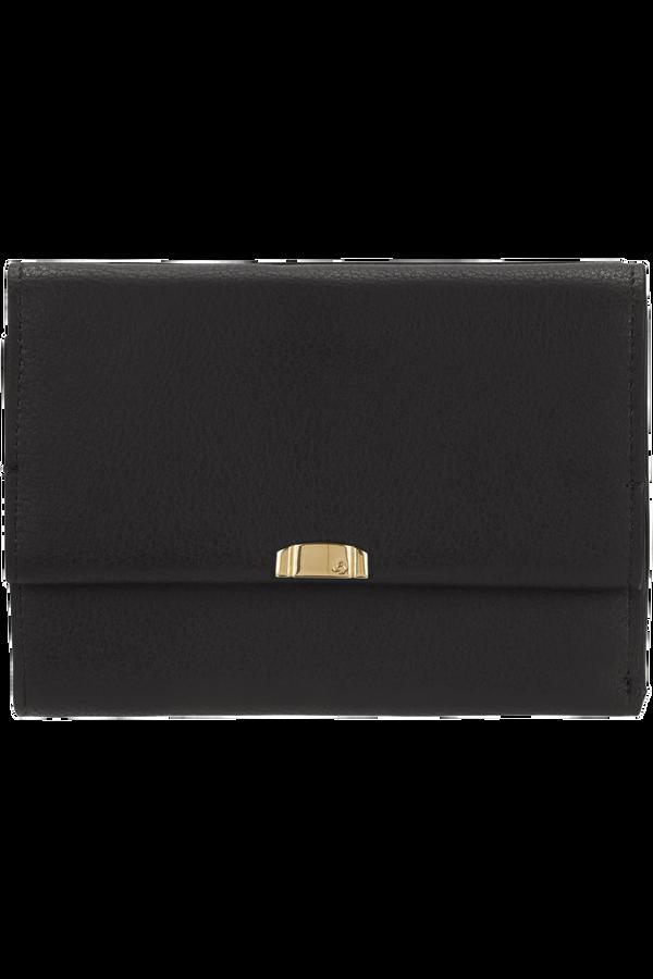 Samsonite Satiny 2.0 Slg Wallet 12CC+ZIP Ext M  Noir