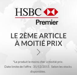 HSBC 2015 | Le 2ème article à moitié prix